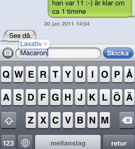 """Macaron"" ""Autocorrect"" ""Iphone4"""