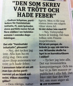 """Gudrun Schyman"" ""feministiskt initiativ"""