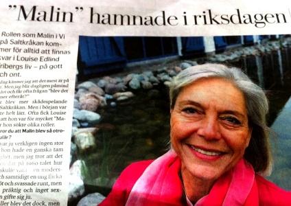 """Louise Edlind"" ""Malin"" ""Saltkråkan"" DN"" ""dagens nyheter"""