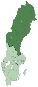 """Norrland"" ""Sweden"" ""map"""