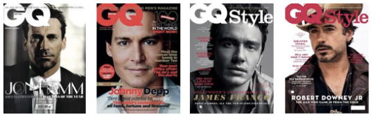 GQ covers portraits Johnny Depp John Hamm