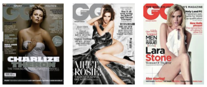 GQ covers Charlize Theron Lara Stone